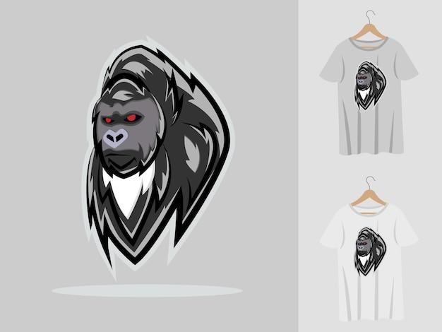 Maskotka goryl z t-shirtami