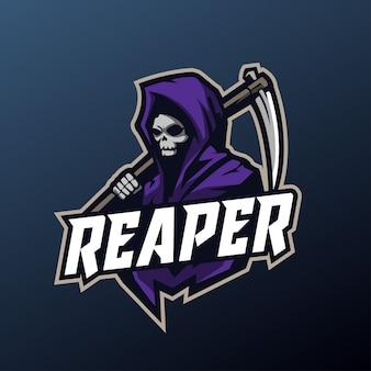 Maskotka grim reaper do logo sportu i e-sportu