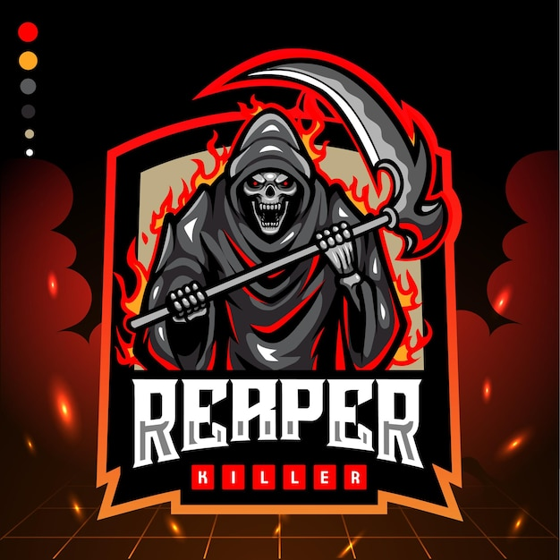 Maskotka grim reaper. logo esport