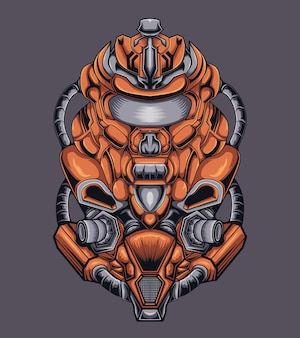 Maskotka ilustracja robota wojennego