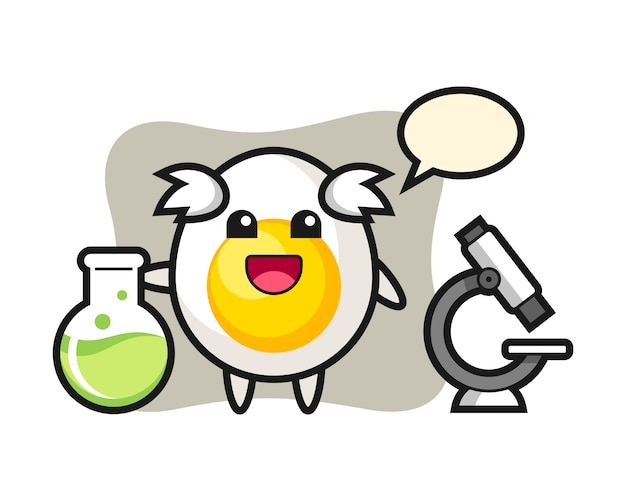 Maskotka jajko na twardo jako naukowiec