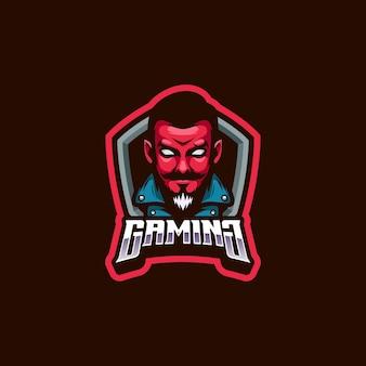 Maskotka logo diabła człowieka