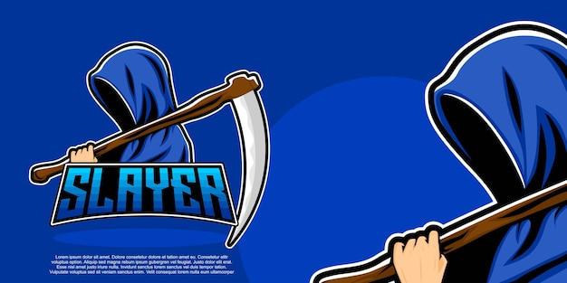 Maskotka logo e-sportu slayer
