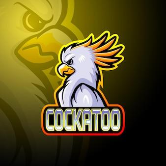 Maskotka logo esport kakadu