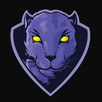 Maskotka logo głowy puma