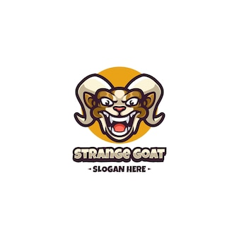 Maskotka logo koza