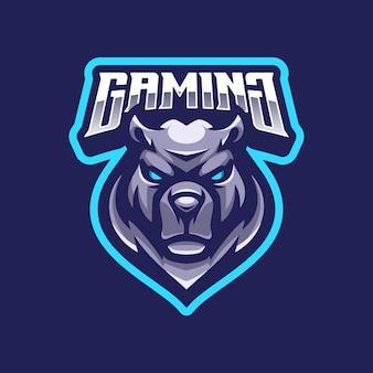 Maskotka logo niedźwiedzia
