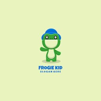 Maskotka logo żaba