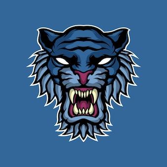 Maskotka niebieski tygrys