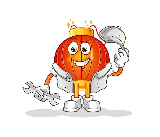 Maskotka postaci mechanika chińskiej latarni
