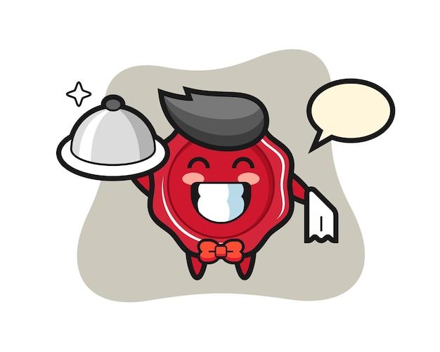 Maskotka postaci z laku jako kelnerów