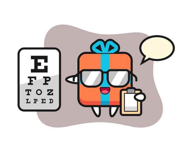 Maskotka pudełko jako okulistyka