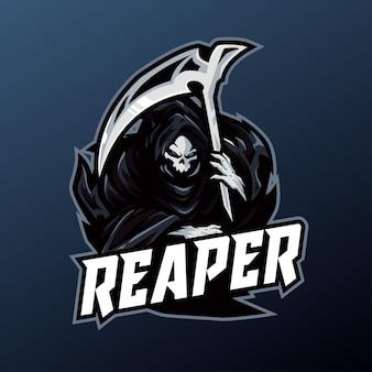 Maskotka reaper do logo sportu i e-sportu