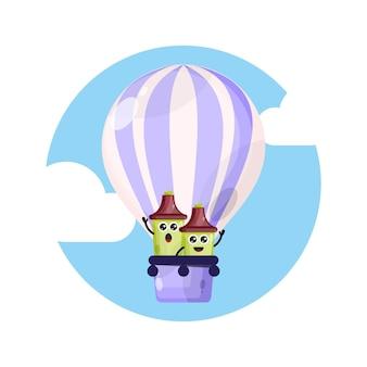 Maskotka rozświetlacz balon na gorące powietrze