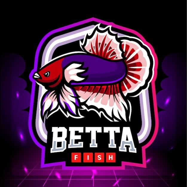 Maskotka ryby dumbo ucho betta. projektowanie logo esport