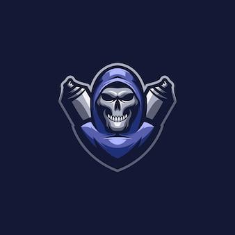 Maskotka skull esport