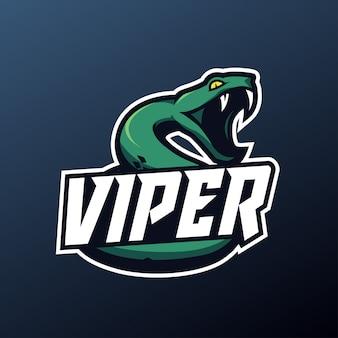 Maskotka węża do logo sportu i e-sportu