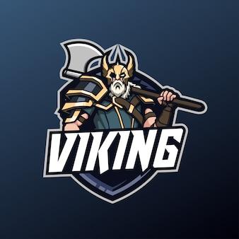 Maskotka Wikingów Do Logo Sportu I E-sportu Premium Wektorów