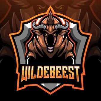Maskotka wildebeest.