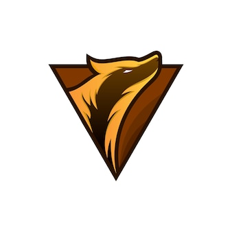 Maskotka wilka do logo e-sportu i gier