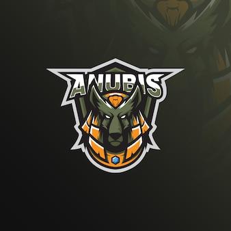 Maskotka z logo anubis