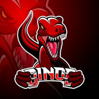 Maskotka z logo dino esport
