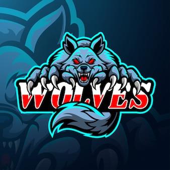 Maskotka z logo e-sportu wilki