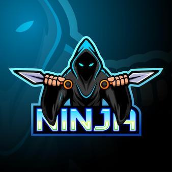 Maskotka z logo esport ninja