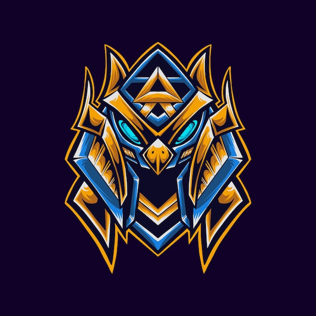 Maskotka z logo faraona