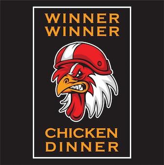 Maskotka z logo kurczaka