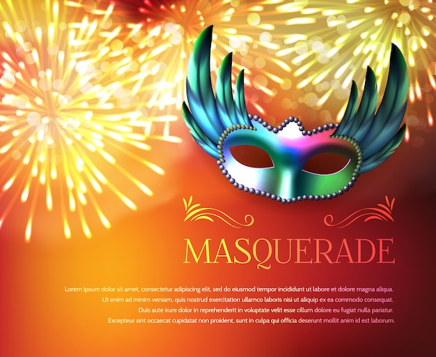 Masquerade fireworks display poster