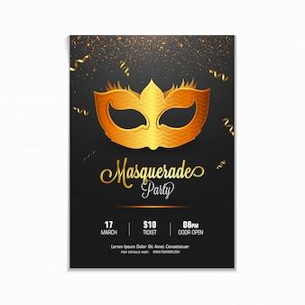 Masquerade, mardi gras. karnawał błyszczące napis projekt.