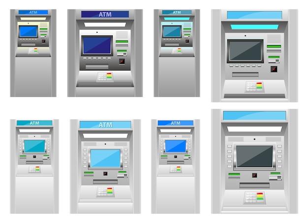 Maszyna bankomatowa, na białym tle