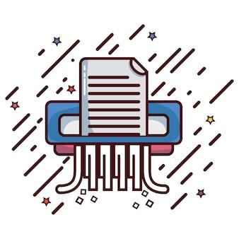 Maszyna do cięcia dokumentów, aby zapisać informacje