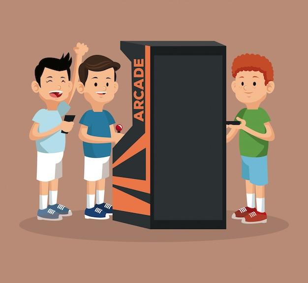 Maszyna do gier wideo dla graczy i smartfon