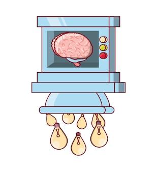 Maszyna do przetwarzania mózgu żarówek