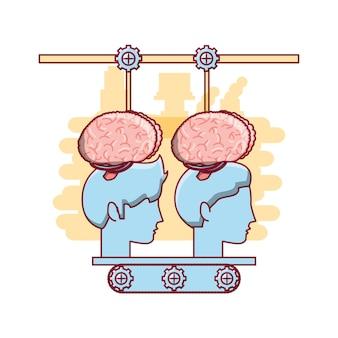 Maszyna mózgowa z głowami na zespole transportowym