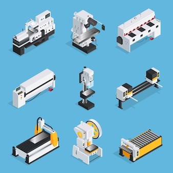 Maszyny do obróbki metalu zestaw izometryczny