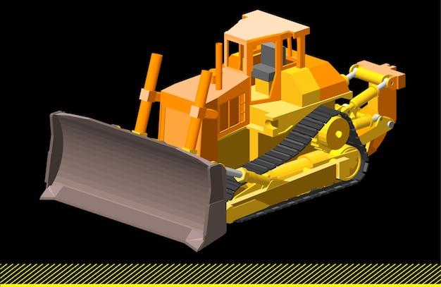 Maszyny górnicze wektorowe low poly