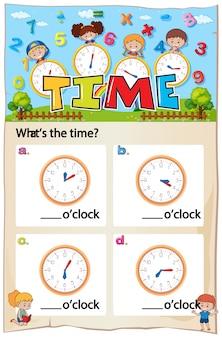 Matematyka arkusz czasu rozdziału z obrazem