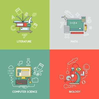 Matematyka, literatura, informatyka i biologia