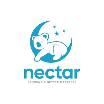 Materac nektarowy wygodny projekt logo