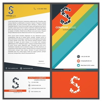 Materiał projekt branding set