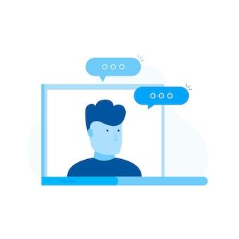 Materiały edukacyjne, kursy do nauki online, nauczyciel kursów na ekranie laptopa