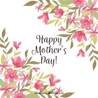 Matka dnia tło z kolorowymi kwiatami