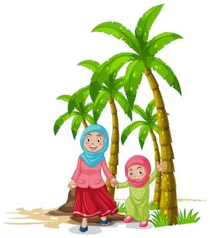 Matka i córka w parku