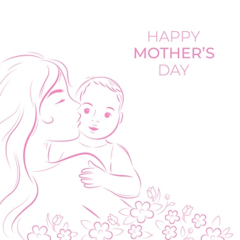 Matka jest ay z szczęśliwą rodziną
