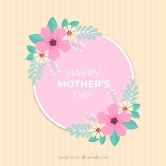 Matki ay tło z kolorowymi kwiatami