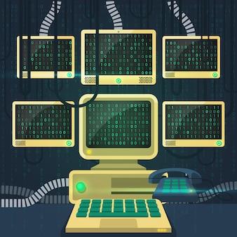 Matrix flat illustration