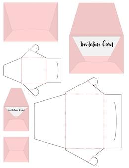 Matryca wykrojnika koperty szablon